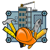 badge for construction cluster