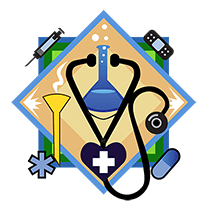 badge for health-sciences cluster